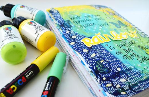 art journal ideas Keep Walking