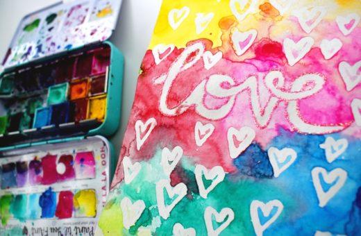 Art Journal Love Glitter - Revlie