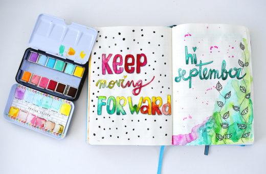 Bullet Journal Keep Moving Forward - Revlie