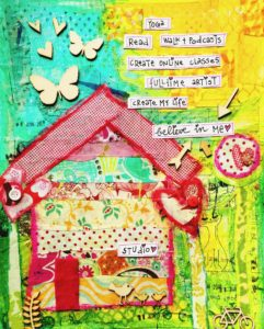 Mixed Media Huisje Revlie