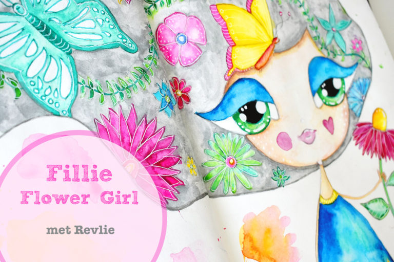 Droom Meisjes Tekenen - Fillie Flower Girl