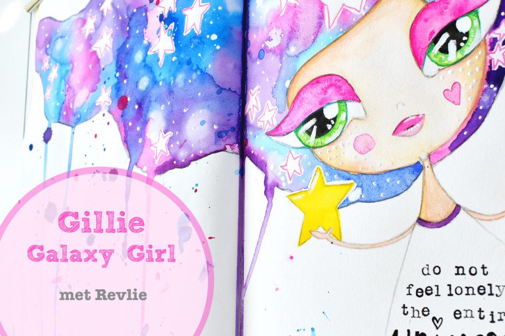 Droom Meisjes Tekenen - Gillie Galaxy Girl