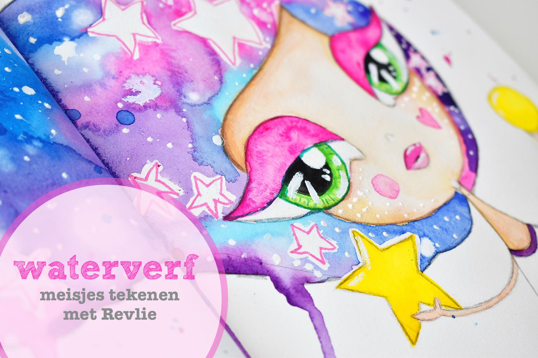 Waterverf meisjes tekenen met Revlie