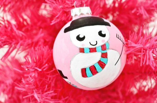 DIY Kerstbal Sneeuwpop Revlie