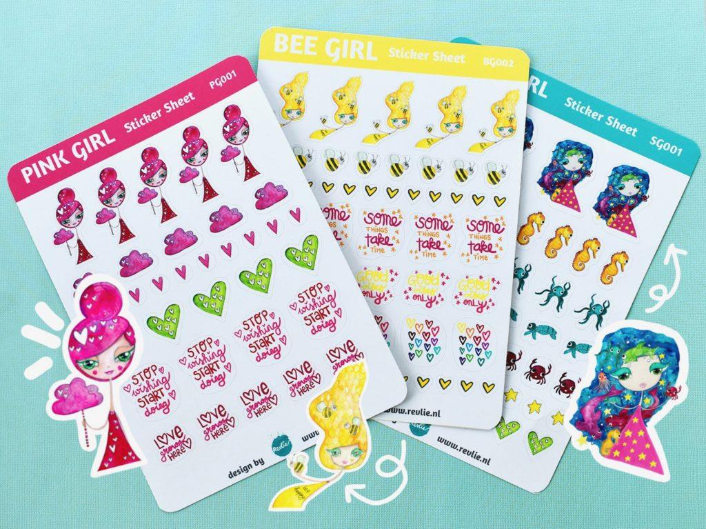 Stationery en stickers Revlie