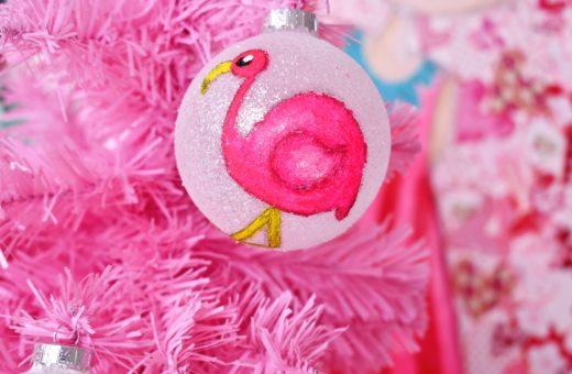 DIY Kerstbal Flamingo Revlie