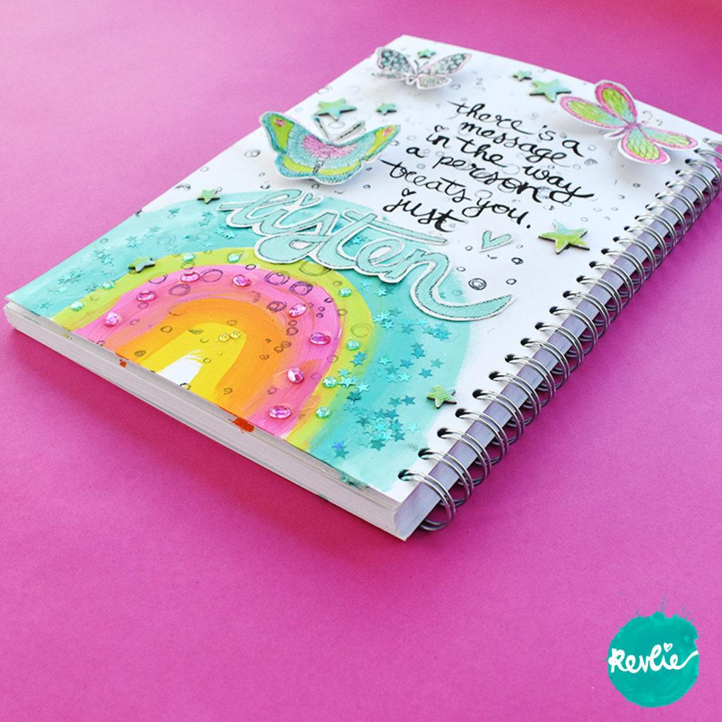 Art Journal Tutorial met acrylverf en glitters
