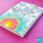 Art Journal Tutorial met acrylverf en glitters