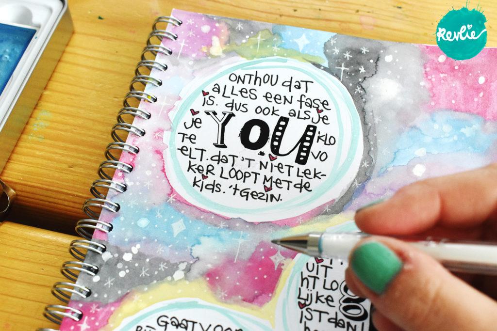 Art Journal Tutorial met rubons