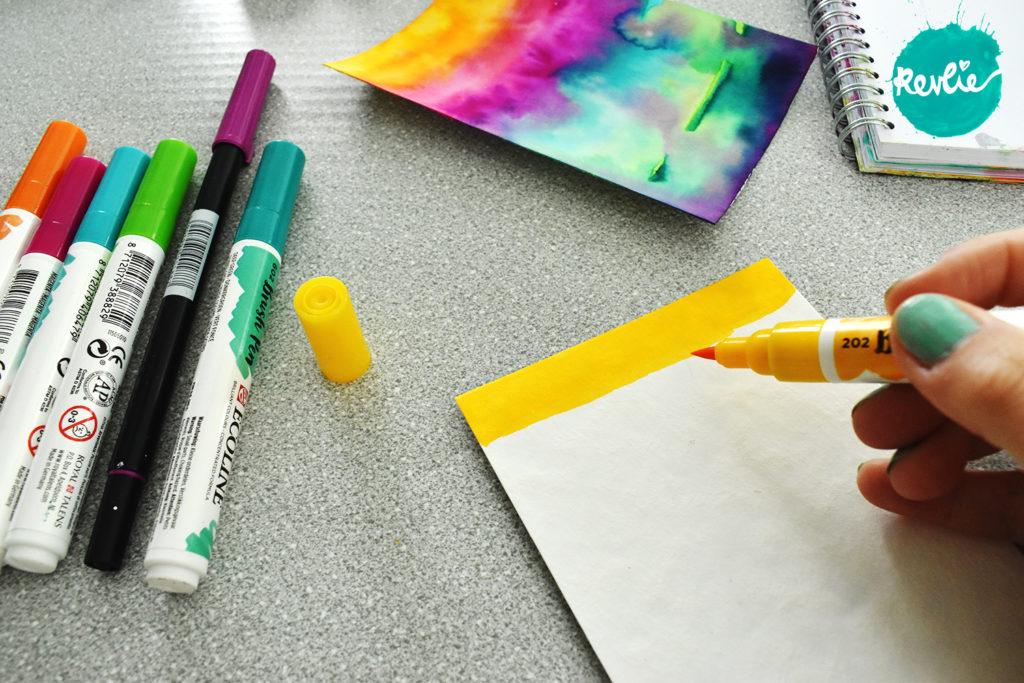 Artjournaling met stof en vilt